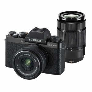 富士フイルム XT100-WZLKITB ミラーレス一眼カメラ 「X-T100」ダブルズームレンズキット(ブラック)