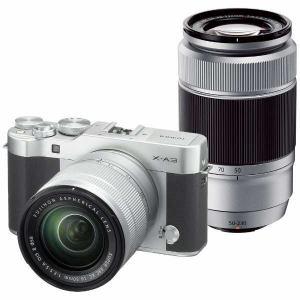 富士フイルム FX-A3WZLK-S デジタル一眼カメラ「X-A3」ダブルズームレンズキット(シルバー)