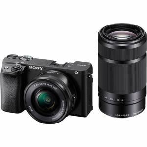 ソニー ILCE-6400YB デジタル一眼カメラ ダブルズームレンズキット ブラック