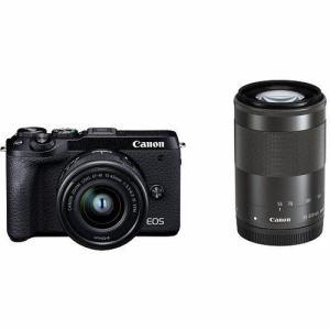 【クリックで詳細表示】キヤノン EOSM6MK2 WZKBK ミラーレスカメラ EOS M6 Mark II (ブラック)・ダブルズームキット