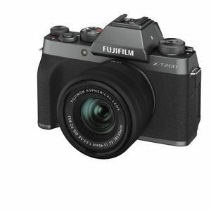 富士フイルム XT200 LKITDS ミラーレス一眼カメラ Xシリーズ  ダークシルバー