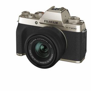 富士フイルム XT200 LKITG ミラーレス一眼カメラ Xシリーズ  ゴールド