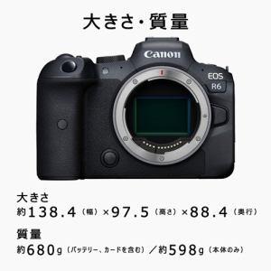 キヤノン EOSR6 ミラーレスカメラ