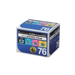 エレコムカラークリエイション CIE-IC76-4P エプソン用互換インクカートリッジ   4色セット