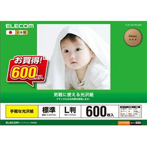 エレコム EJK-GAYNL600 光沢紙 L判サイズ/600枚