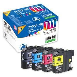 ジット JIT-B1114P brother LC111-4PK 4色パック対応リサイクルインクカートリッジ