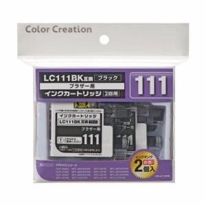 エレコムカラークリエイション CCB-LC111BKW ブラザー用互換インクカートリッジ   ブラック (2回用)