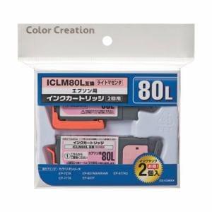 カラークリエーション CCE-ICLM80LW Color Creation EPSON ICY80L互換インクカートリッシ1個+交換用インクタンク1個 ライトマゼンタ