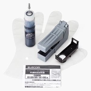 エレコム THC-326321BK5 キヤノン 326/321用詰め替えインク ブラック 約5回