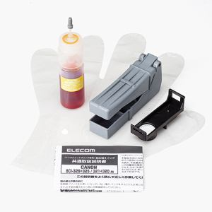 エレコム キヤノン 326/321用詰め替えインク イエロー 約5回 THC-326321Y5