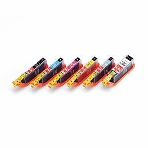 エレコムカラークリエイション CIC-370371XL6P キヤノン用互換インクカートリッジ   6色セット