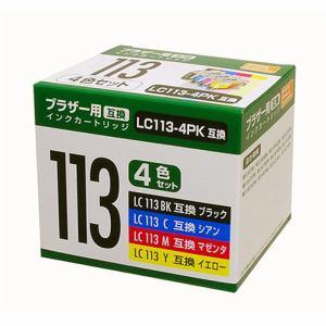 PPC PP-BLC113-4P ブラザー LC113-4PK互換インク 4色パック