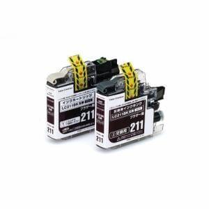 カラークリエーション CCB-LC211BKW インクカートリッジ(2回用) ブラック