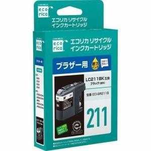エコリカ ECI-BR211B ブラザー用リサイクルインク(顔料ブラック)