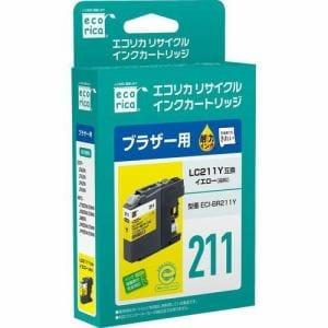 エコリカ ECI-BR211Y ブラザー用リサイクルインク(染料イエロー)