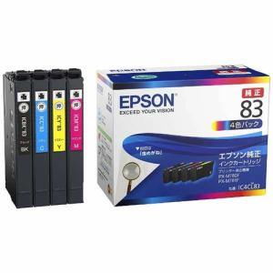 エプソン IC4CL83 【純正】 インクパック 4色パック 標準タイプ