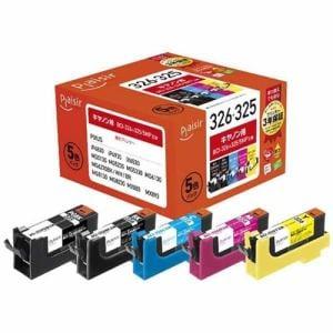 プレジール PLE-CB3265P キヤノン BCI-326+325/5MP互換インクカートリッジ 5色パック