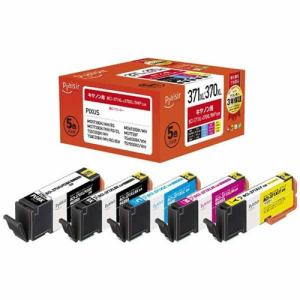 プレジール PLE-C371XL5P キヤノン BCI-371XL+370XL/5MP互換インクカートリッジ 5色パック
