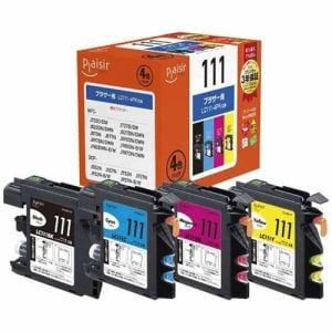 プレジール PLE-BR1114P ブラザー LC111-4PK互換インクカートリッジ 4色パック
