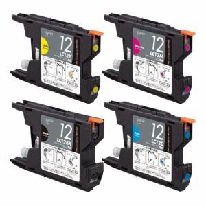 プレジール PLE-BR124P ブラザー LC12-4PK互換インクカートリッジ 4色パック