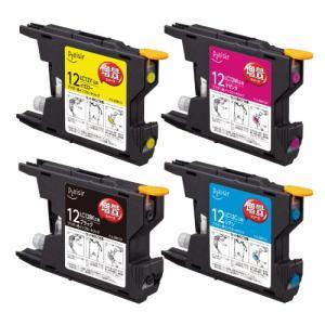 プレジール PLE-ZBR124P ブラザー LC12-4PK互換インクカートリッジ 増量シリーズ 4色パック