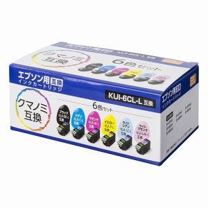 ナカバヤシ PP-EICKUIY-6P-L エプソンクマノミ互換インク(6色セット)