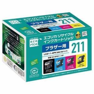 エコリカ ECI-BR211-4P LC211-4PK対応4色セット