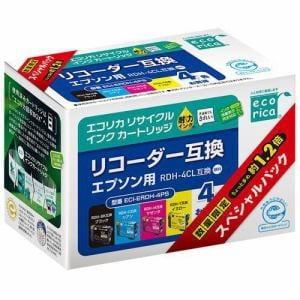 エコリカ ECI-ERDH-4PS RDH-4CL対応 4色セット(顔料)