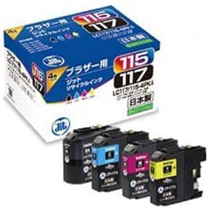 ジット JIT-B1171154P (ブラザー LC117/115-4PK対応/リサイクルインクカートリッジ/4色セット(BK/C/M/Y))