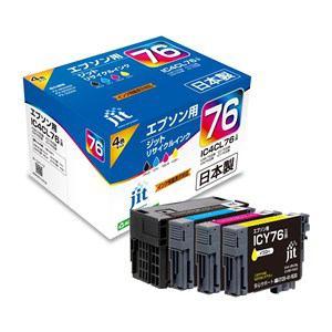 ジット JIT-AE764P 【互換】 エプソン IC4CL76(ブラック/シアン/マゼンタ/イエロー)対応リサイクルインクカートリッジ