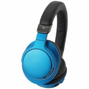 オーディオテクニカ ATH-AR5BT-BL 【ハイレゾ音源対応】 マイク付ブルートゥースヘッドホン(ターコイズブルー)