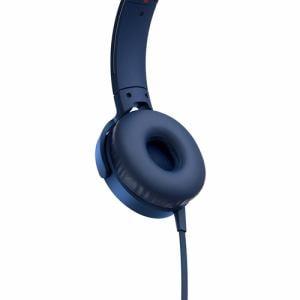 イヤホン ソニー マイク   MDRXB550APLC マイク&コントローラー搭載 ダイナミック密閉型ヘッドホン (ブルー)