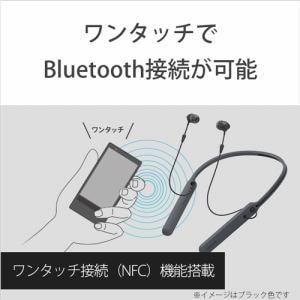 ヘッドセット ソニー    WI-C400-R ワイヤレスステレオヘッドセット レッド