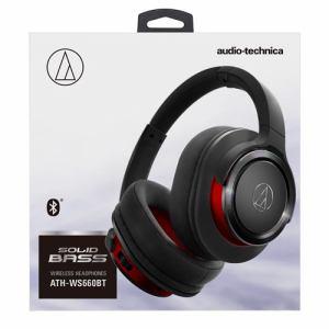 オーディオテクニカ ATH-WS660BT-BRD Bluetooth対応ワイヤレスヘッドホン ブラックレッド