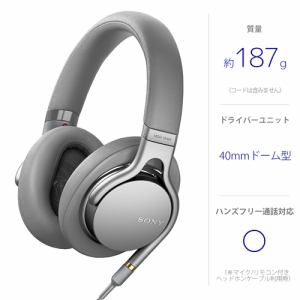 ソニー MDR-1AM2-S 【ハイレゾ音源対応】 ステレオヘッドホン シルバー
