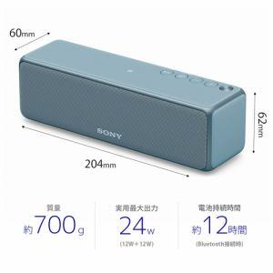 ソニー SRS-HG10-L 【ハイレゾ音源対応】 ワイヤレスポータブルスピーカー ムーンリットブルー