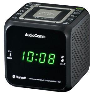オーム電機 RAD-MBT100Z-K ワイドFM/ AM クロックラジオ(ブラック)