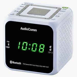 オーム電機 RAD-MBT100Z-W ワイドFM/ AM クロックラジオ(ホワイト)