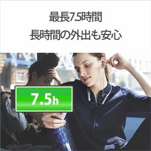ソニー WI-C600NBM Bluetoothヘッドホン   ブラック