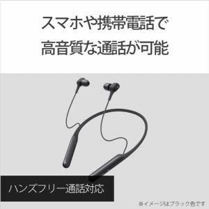 ヘッドホン ソニー Bluetooth   WI-C600NLM Bluetoothヘッドホン   ブルー
