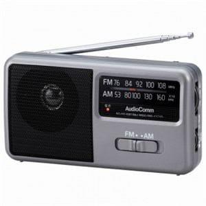 オーム電機 RAD-F1771M AM/FM コンパクトポータブルラジオ