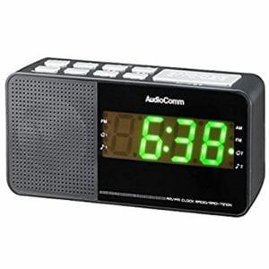 オーム電機 RAD-T210N ワイドFM/AM クロックラジオ ブラック