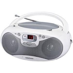 オーム RCR-530N-S CDラジオ(シルバー) AudioComm OHM