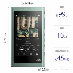 ソニー NW-A55HNGM ウォークマン ウォークマンA50シリーズ 16GB ホライズングリーン