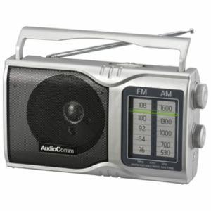オーム電機 RAD-T208S AM/FMポータブルラジオ