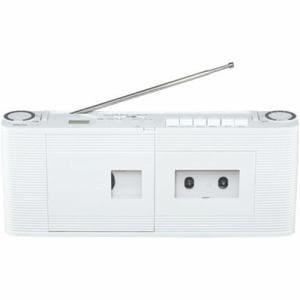 東芝 TY-CDV1 CDラジオカセットレコーダー ワイドFM対応 ホワイト