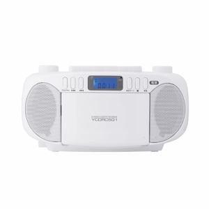YAMADASELECT(ヤマダセレクト) YCDRC5G1W  CDラジオカセットレコーダー  ホワイト