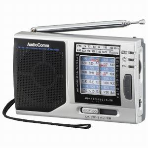 オーム電機 RAD-H320N 短波ラジオ ハンディサイズ