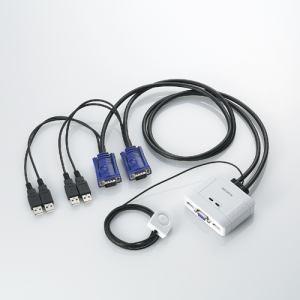 エレコム KVM-KUSN CPU切替器(2台用)