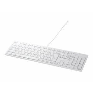 バッファロー BSKBM01 USB接続 有線キーボード Macモデル ホワイト